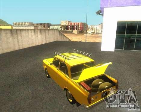 Moskvich 408 para GTA San Andreas traseira esquerda vista