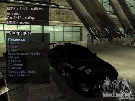 Mitsubishi Lancer Evolution X Drift Spec para GTA San Andreas vista interior