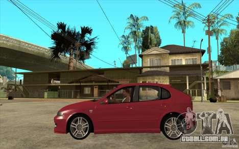 Seat Leon Cupra - Stock para GTA San Andreas esquerda vista