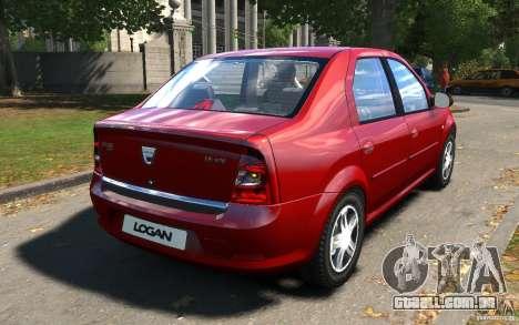 Dacia Logan 2008 para GTA 4 vista direita
