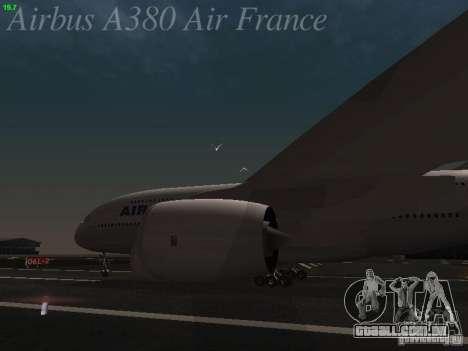 Airbus A380-800 Air France para GTA San Andreas vista traseira
