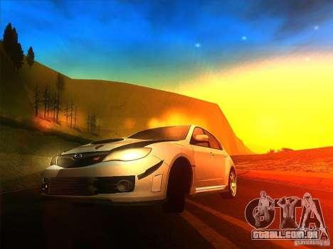 Subaru Impreza WRX 2008 Tunable para GTA San Andreas esquerda vista