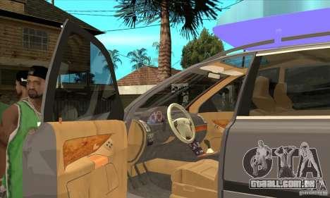 Volvo XC90 Sport para GTA San Andreas vista interior