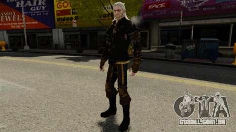 Geralt de Rivia v1 para GTA 4 por diante tela