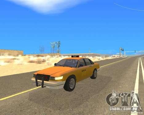 Taxi from GTAIV para GTA San Andreas traseira esquerda vista