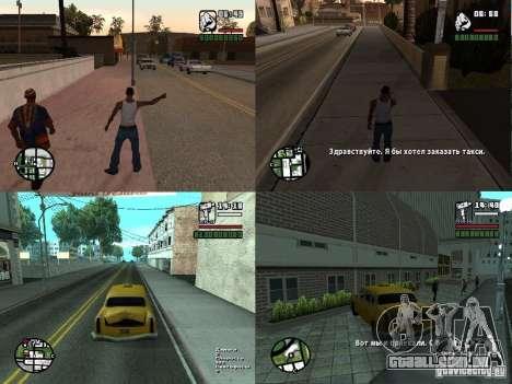 Passe de táxi, v. 2 para notebooks para GTA San Andreas