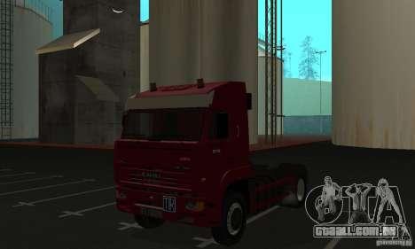 KAMAZ 5460 pele 1 para GTA San Andreas esquerda vista