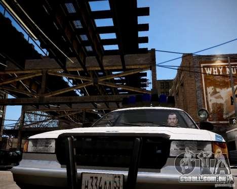 Russian Police Cruiser para GTA 4 vista de volta