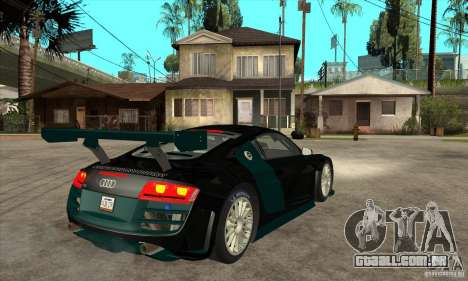 Audi R8 LMS para GTA San Andreas vista direita
