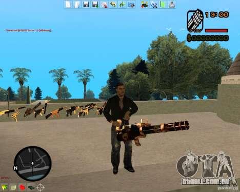 Smalls Chrome Gold Guns Pack para GTA San Andreas nono tela