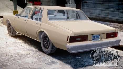 Chevrolet Impala 1983 para GTA 4 vista direita
