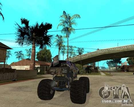 Bounty Hunter para GTA San Andreas traseira esquerda vista