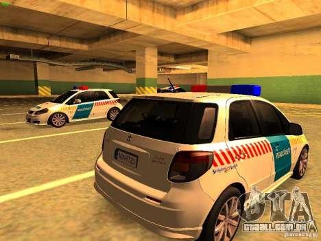 Suzuki SX-4 Hungary Police para GTA San Andreas esquerda vista