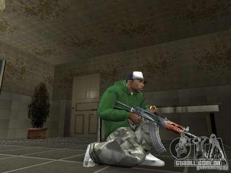 Pak domésticos armas V2 para GTA San Andreas por diante tela
