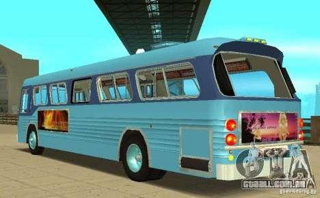 GMC Fishbowl City Bus 1976 para GTA San Andreas traseira esquerda vista