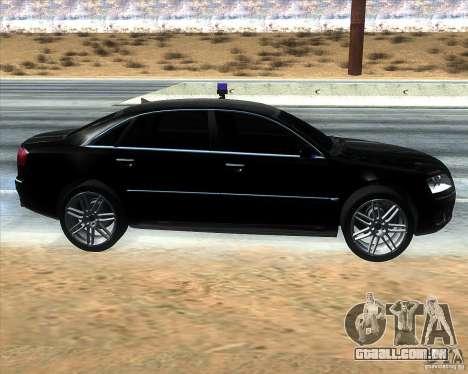 Audi A8L W12 para GTA San Andreas esquerda vista