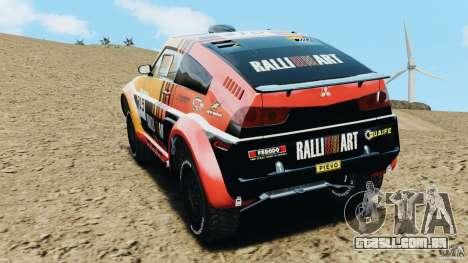 Mitsubishi Pajero Evolution MPR11 para GTA 4 traseira esquerda vista