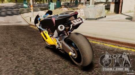 Ducati Desmosedici RR 2012 para GTA 4 traseira esquerda vista