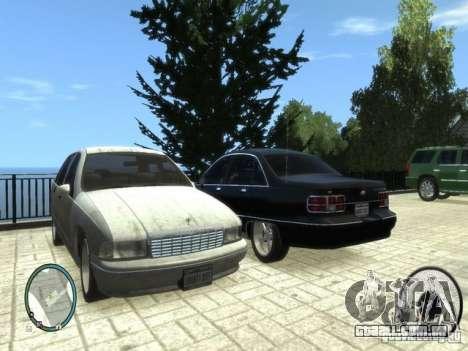 Chevrolet Caprice para GTA 4 esquerda vista