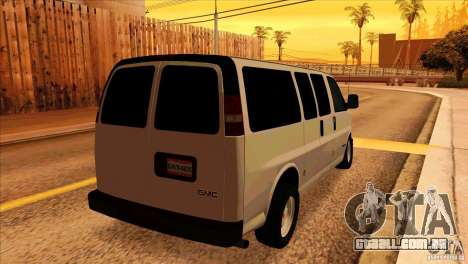 GMC Savanna 2500 para GTA San Andreas vista direita
