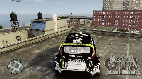 Ken Block Ford Fiesta 2011 para GTA 4 vista de volta