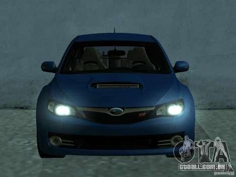Subaru Imreza WRX para GTA San Andreas esquerda vista