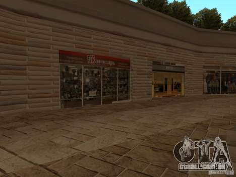 Novo centro comercial de texturas para GTA San Andreas quinto tela