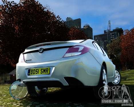 Vauxhall Insignia v1.0 para GTA 4 vista lateral