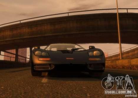 McLaren F1 para GTA 4 traseira esquerda vista