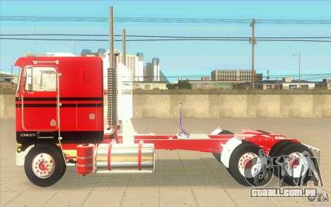 Kenworth K100 Extended Wheel Base para GTA San Andreas esquerda vista