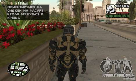 Crysis skin para GTA San Andreas terceira tela