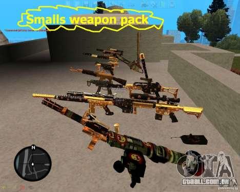 Smalls Chrome Gold Guns Pack para GTA San Andreas