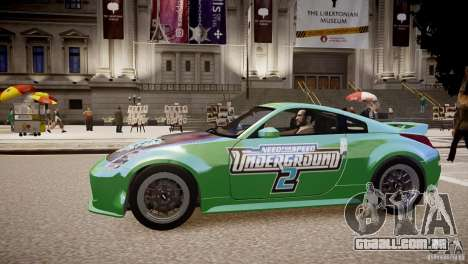 Nissan 350Z Underground 2 Style para GTA 4 esquerda vista
