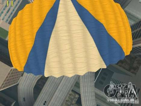 Saltar de paraquedas de TBOGT v2 para GTA San Andreas sexta tela