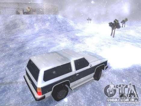 Snow MOD HQ V2.0 para GTA San Andreas nono tela