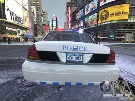 Ford Crown Victoria Homeland Security para GTA 4 vista direita