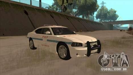 Dodge Charger PNP SAN FIERRO para GTA San Andreas vista traseira