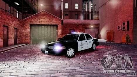 Ford Crown Victoria CVPI-K9 V6.9A-LAPD-ELS para GTA 4