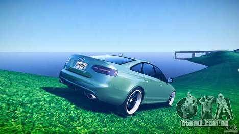 Audi RS6 2009 para GTA 4 vista inferior