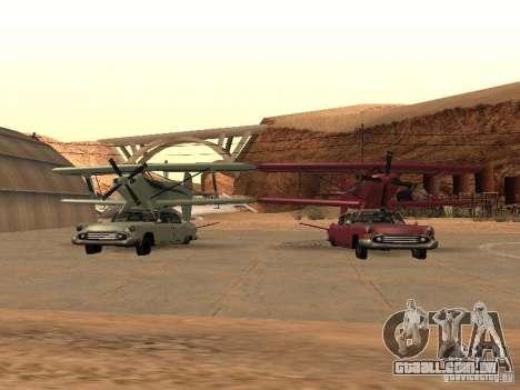 Carro-avião para GTA San Andreas vista traseira