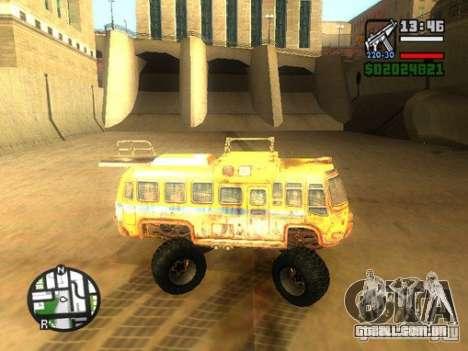 Bullet Storm Bus para GTA San Andreas esquerda vista