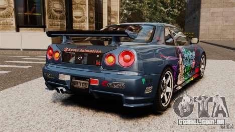 Nissan Skyline GT-R NISMO S-tune para GTA 4 traseira esquerda vista