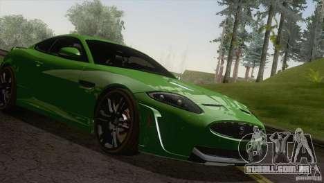 Jaguar XKR-S 2011 V1.0 para GTA San Andreas vista traseira