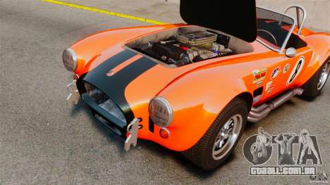 AC Cobra 427 para GTA 4 vista de volta