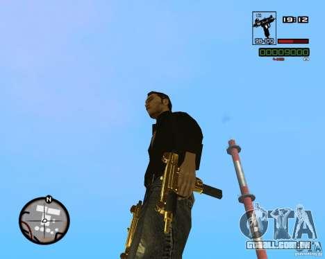 Micro Uzi Gold para GTA San Andreas terceira tela