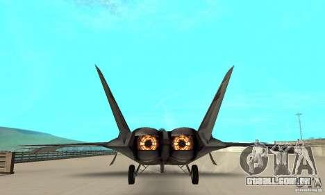 F-22 Starscream para GTA San Andreas vista interior