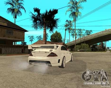MERCEDES CLS 63 AMG TUNING para GTA San Andreas traseira esquerda vista