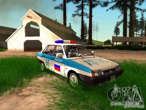 Polícia de 2109 VAZ para GTA San Andreas interior