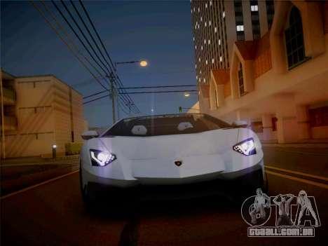 Lamborghini Aventador LP700-4 Roadstar para GTA San Andreas vista direita