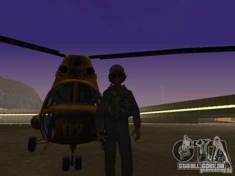 Polícia mi-2 para GTA San Andreas esquerda vista